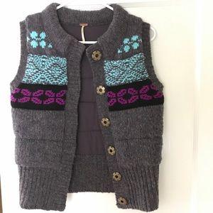 {Free People} Fair Isle Knit Vest